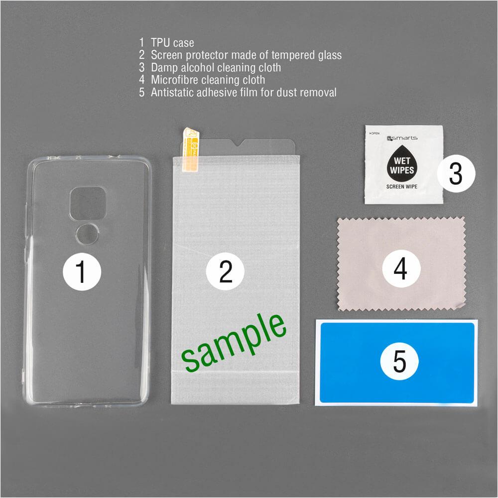 4smarts 360° Protection Set Limited Cover — тънък силиконов кейс и стъклено защитно покритие за дисплея на Samsung Galaxy A40 (прозрачен) - 2