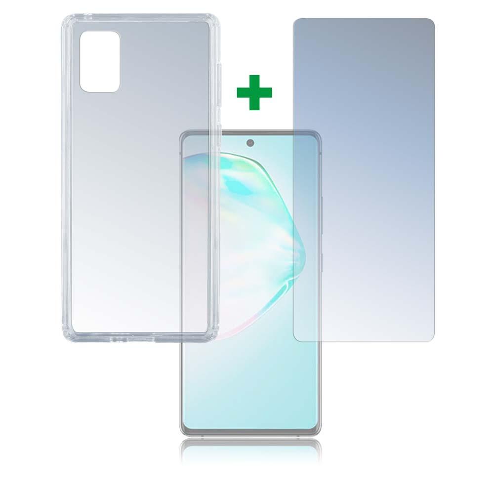4smarts 360° Protection Set Limited Cover — тънък силиконов кейс и стъклено защитно покритие за дисплея на Samsung Galaxy S10 Lite (прозрачен) - 1
