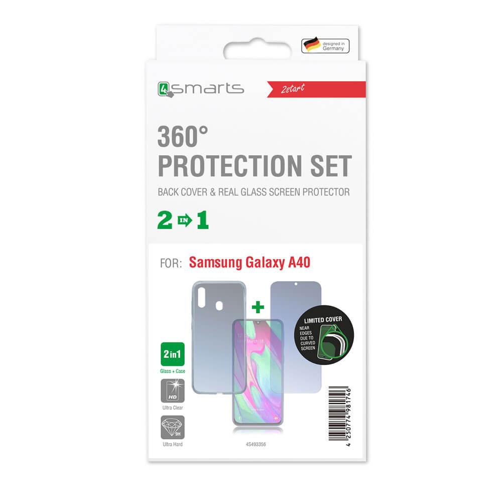 4smarts 360° Protection Set — тънък силиконов кейс и стъклено защитно покритие за дисплея на Huawei Honor 7S (прозрачен) - 2