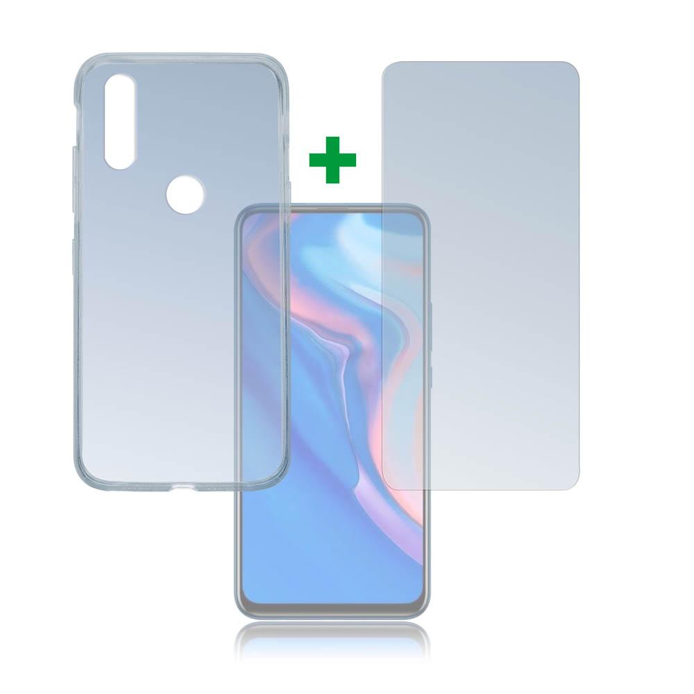 4smarts 360° Protection Set — тънък силиконов кейс и стъклено защитно покритие за дисплея на Huawei P Smart Z (прозрачен) - 1
