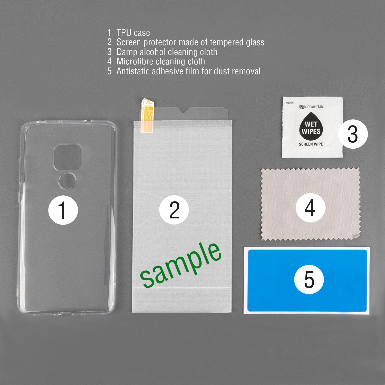 4smarts 360° Protection Set — тънък силиконов кейс и стъклено защитно покритие за дисплея на iPhone 11 Pro Max (прозрачен) - 3
