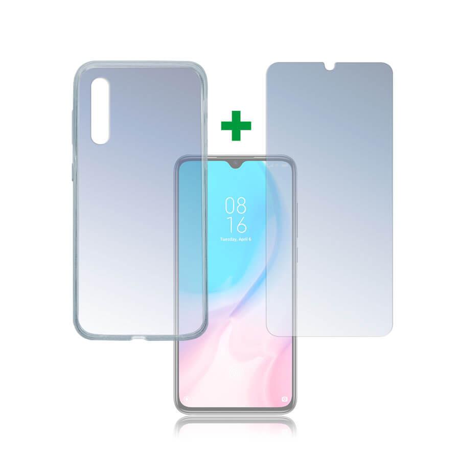 4smarts 360° Protection Set — тънък силиконов кейс и стъклено защитно покритие за дисплея на Xiaomi Mi 9 Lite (прозрачен) - 1