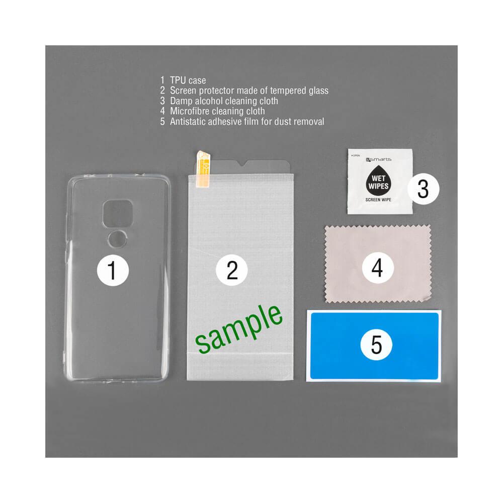 4smarts 360° Protection Set — тънък силиконов кейс и стъклено защитно покритие за дисплея на Xiaomi Mi A2 (прозрачен) - 1