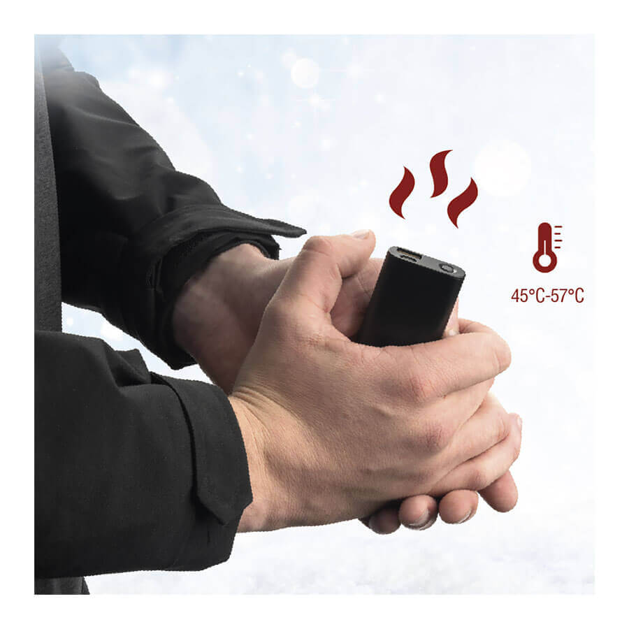 4smarts Hand Warmer Powerbank COSY 2000mAh — джобна външна батерия и нагревател за ръце (черен) - 5