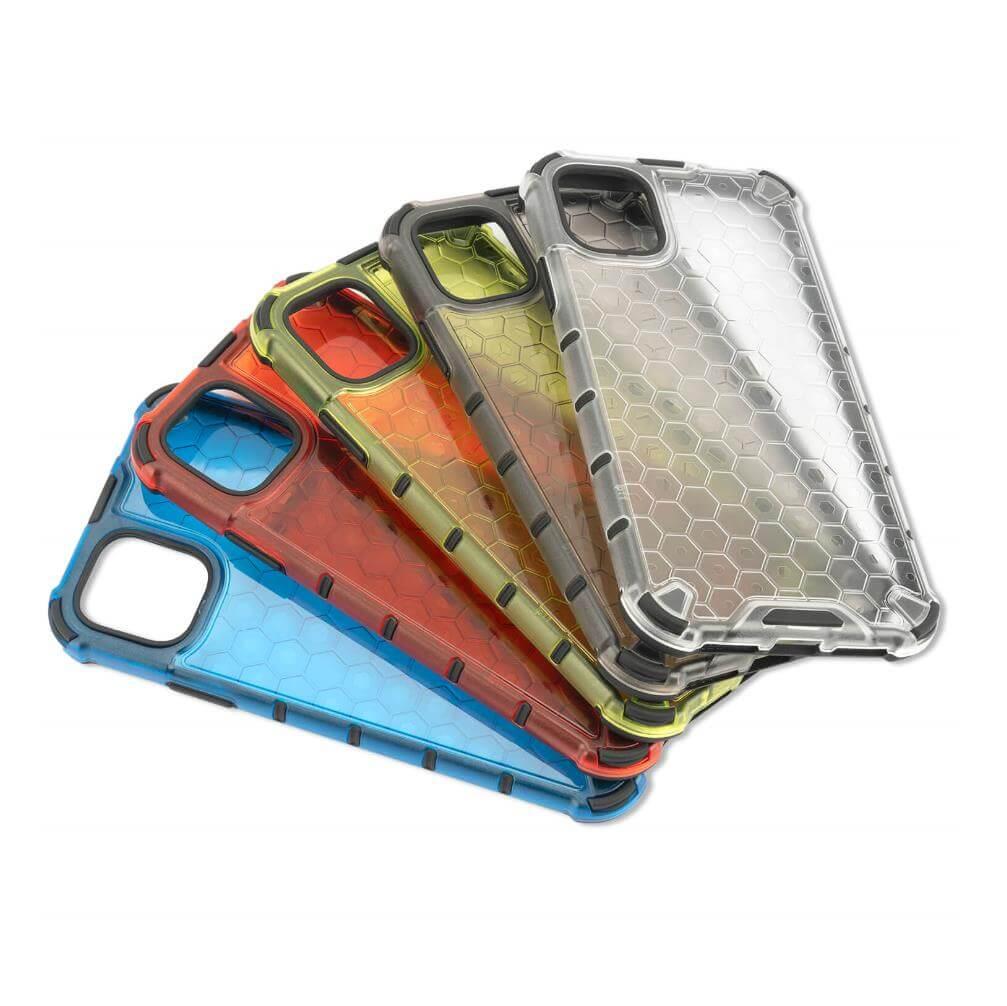 4smarts Hard Cover HEXAGON Case — удароустойчив хибриден кейс за iPhone 11 (червен) - 1