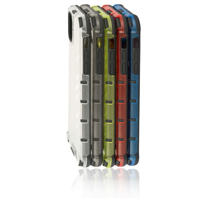 4smarts Hard Cover HEXAGON Case — удароустойчив хибриден кейс за Samsung Galaxy A50 (червен) - 2