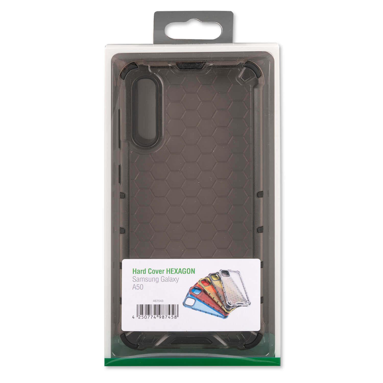 4smarts Hard Cover HEXAGON Case — удароустойчив хибриден кейс за Samsung Galaxy A50 (сив) - 1
