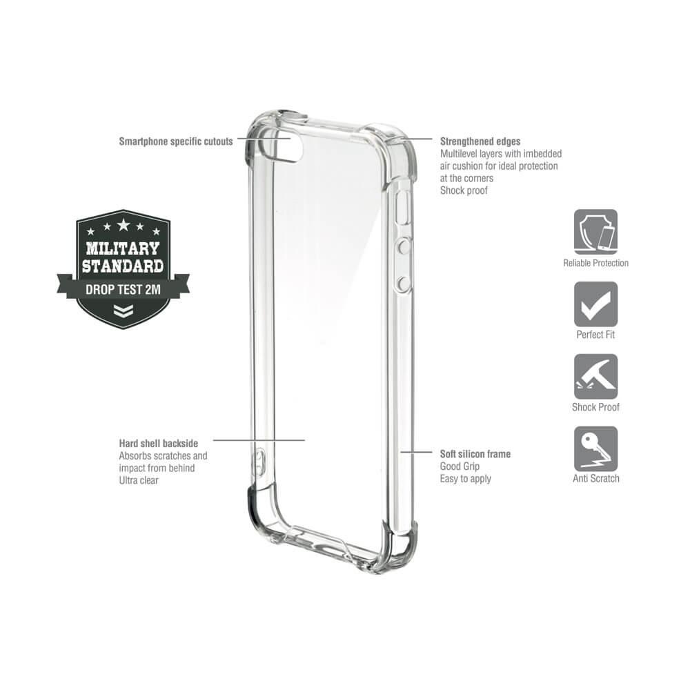 4smarts Hard Cover Ibiza — хибриден удароустойчив кейс за Samsung Galaxy A20E (прозрачен) - 2
