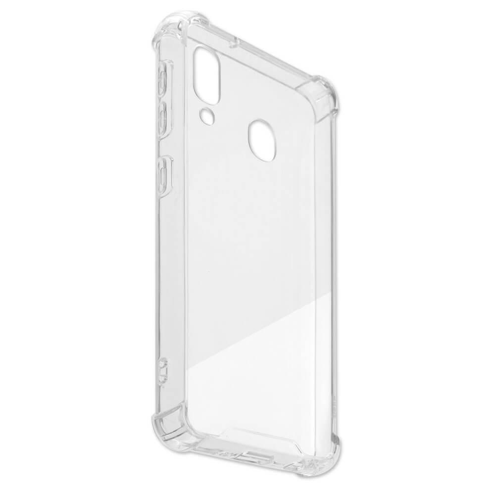 4smarts Hard Cover Ibiza — хибриден удароустойчив кейс за Samsung Galaxy A20E (прозрачен) - 3