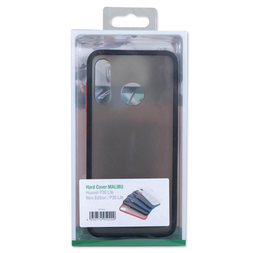 4smarts Hard Cover MALIBU Case — удароустойчив хибриден кейс за Huawei P30 Lite (черен) - 4