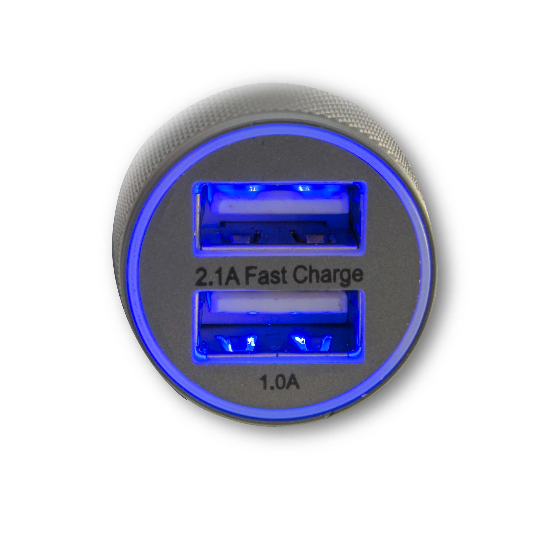 4smarts Hybrid Car Charger 15.5W, 3.1A — зарядно за кола (3.1 ампера) с 2 USB изхода за мобилни устройства (черен-сив) - 2