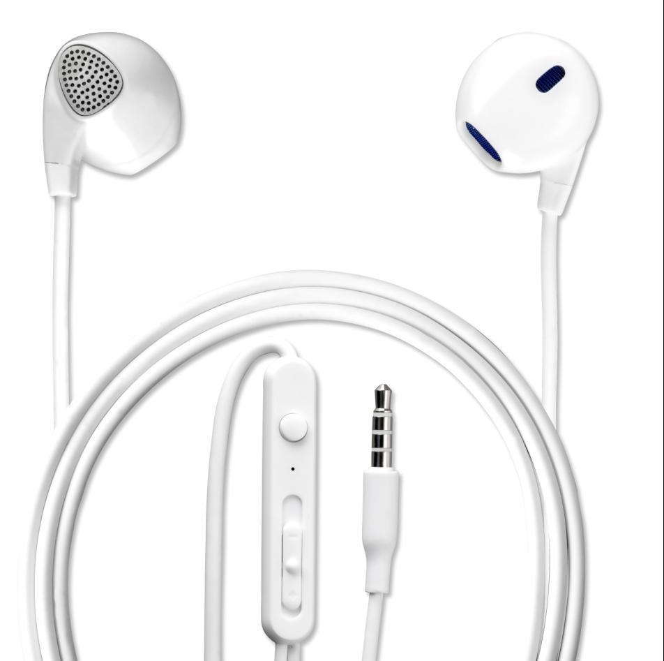 4smarts In-Ear Stereo Headset Melody — слушалки с управление на звука и микрофон за мобилни устройства (бял) - 1
