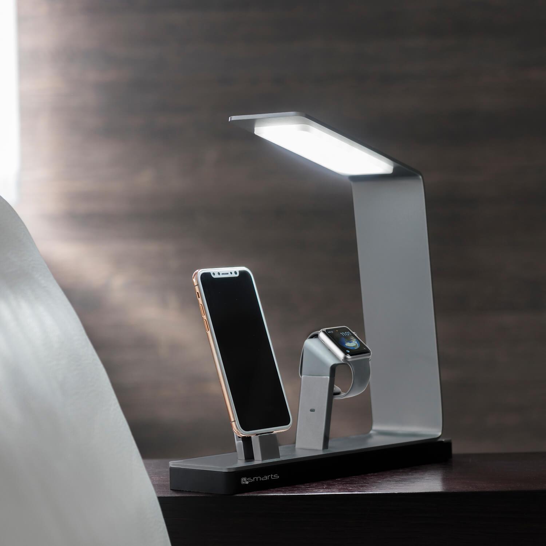 4smarts LED Charging Station LoomiDock — докинг станция за зареждане на iPhone и Apple Watch (черен) - 1