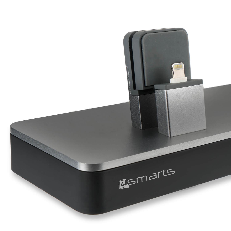 4smarts LED Charging Station LoomiDock — докинг станция за зареждане на iPhone и Apple Watch (черен) - 2