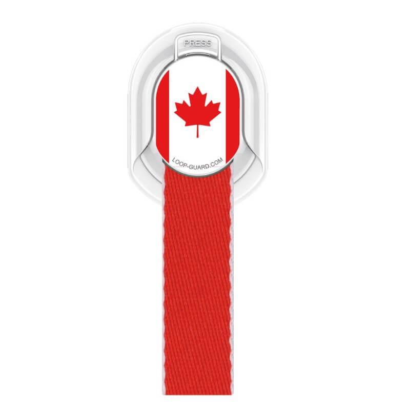 4smarts Loop-Guard Country Canada — каишка за задържане за смартфони с канадското знаме (червен) - 1
