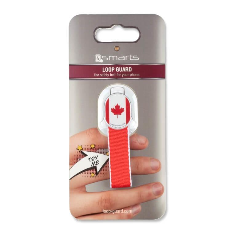 4smarts Loop-Guard Country Canada — каишка за задържане за смартфони с канадското знаме (червен) - 2