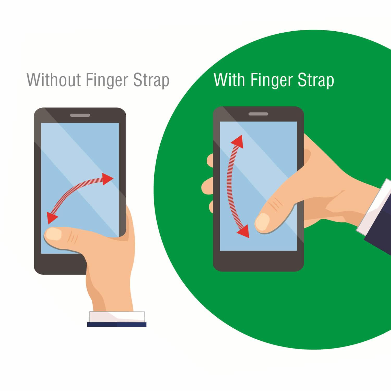 4smarts Loop-Guard Finger Strap — каишка за задържане за смартфони (кафяв-златист)  - 5