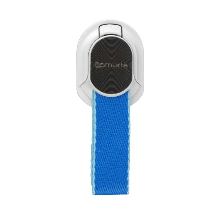 4smarts Loop-Guard Finger Strap — каишка за задържане за смартфони (син-бял) - 1
