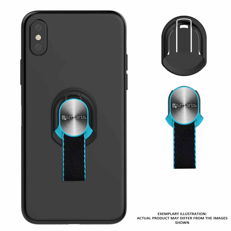 4smarts Loop-Guard Finger Strap — каишка за задържане за смартфони (син-бял) - 4