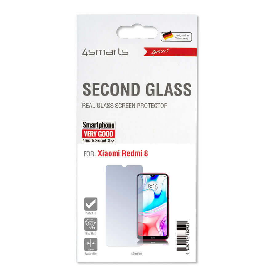 4smarts Second Glass 2D Limited Cover — калено стъклено защитно покритие за дисплея на Xiaomi Redmi 8 (прозрачен) - 2