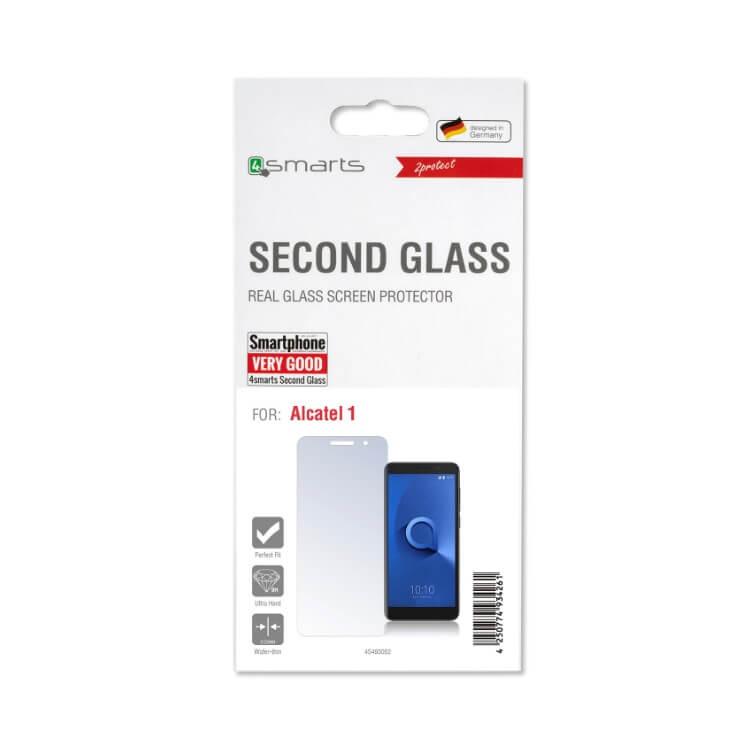 4smarts Second Glass — калено стъклено защитно покритие за дисплея на Alcatel 1 (прозрачен) - 2