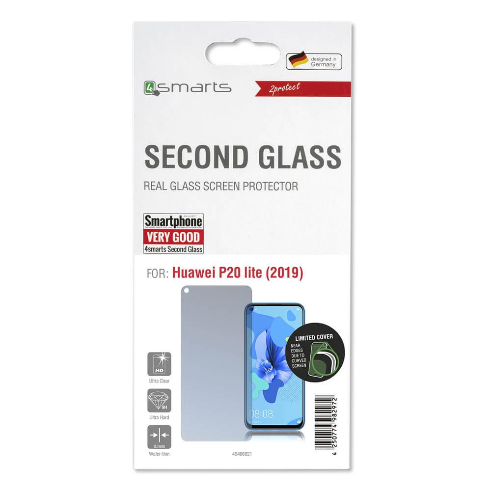 4smarts Second Glass — калено стъклено защитно покритие за дисплея на Huawei P20 Lite (2019) (прозрачен) - 2