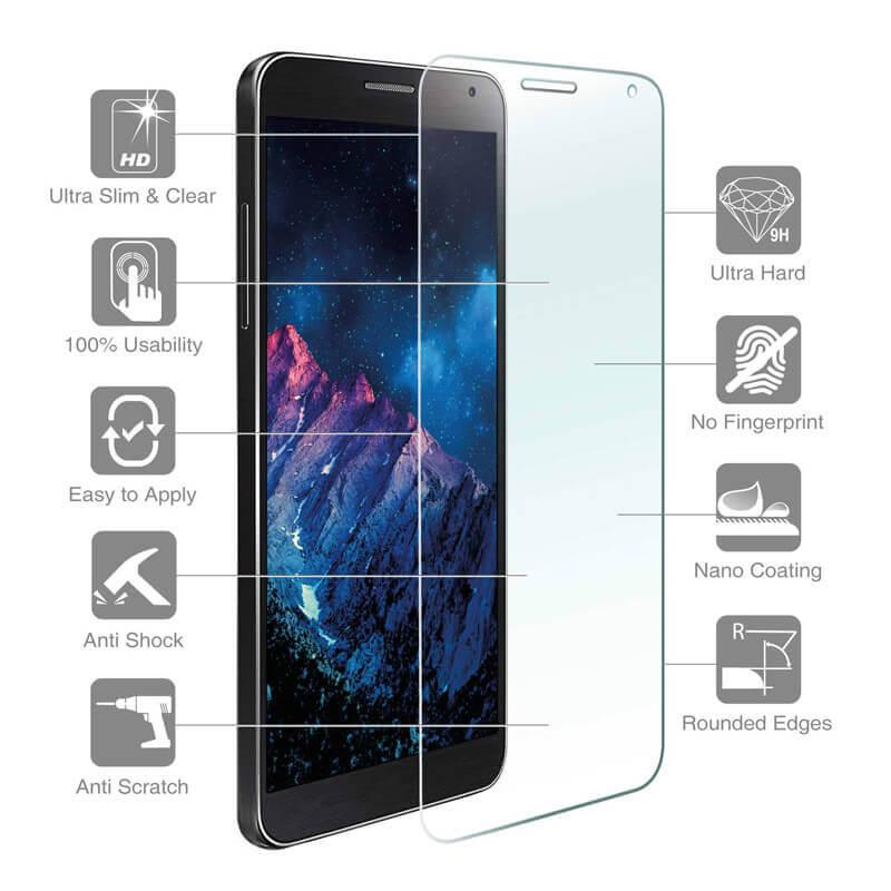 4smarts Second Glass — калено стъклено защитно покритие за дисплея на LG X Cam (прозрачен) - 1