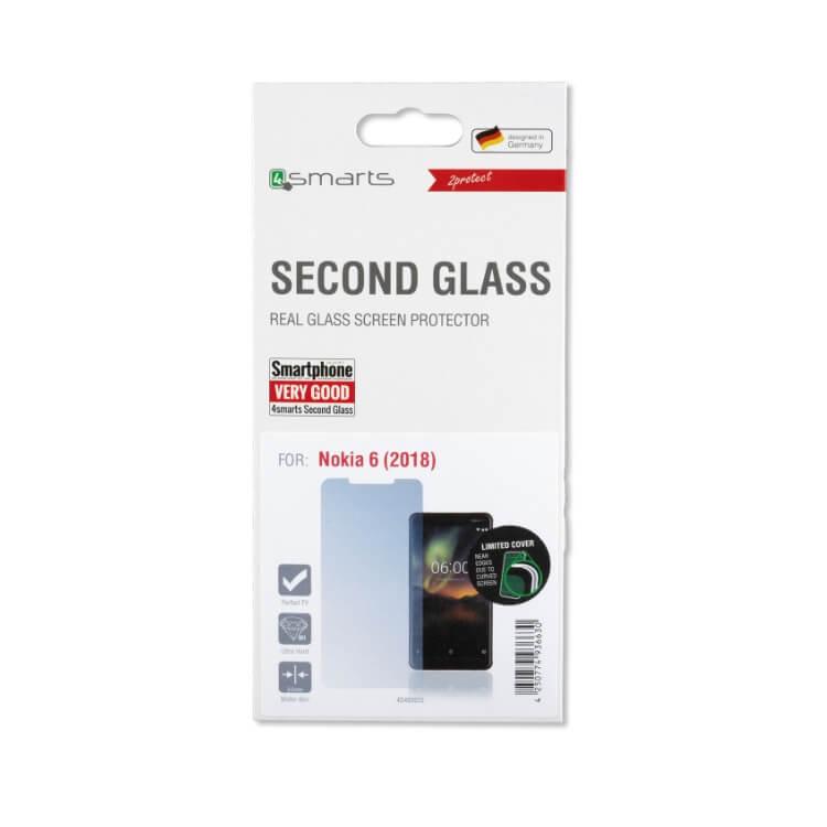 4smarts Second Glass — калено стъклено защитно покритие за дисплея на Nokia 6 (2018) (прозрачен) - 2