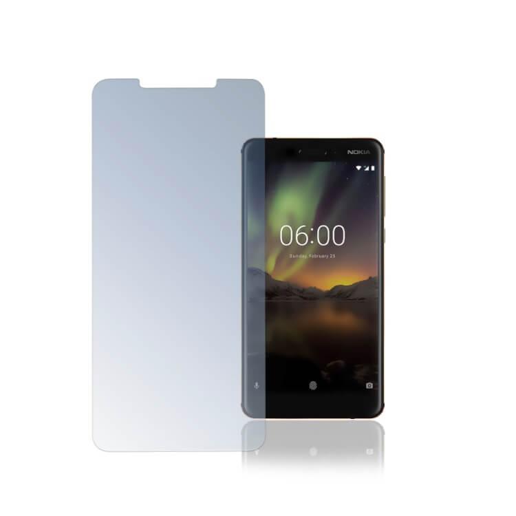 4smarts Second Glass — калено стъклено защитно покритие за дисплея на Nokia 6 (2018) (прозрачен) - 1