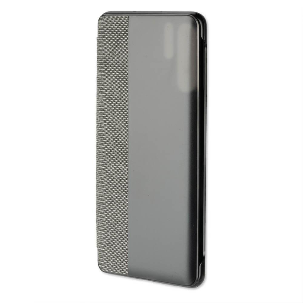 4smarts Smart Cover — текстилен смарт калъф за Huawei P30 Pro (тъмносив) - 1