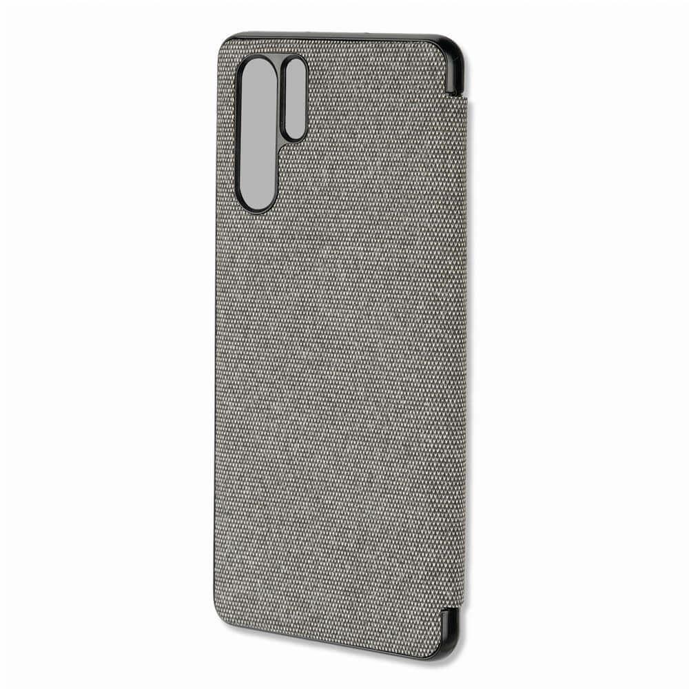 4smarts Smart Cover — текстилен смарт калъф за Huawei P30 Pro (тъмносив) - 2