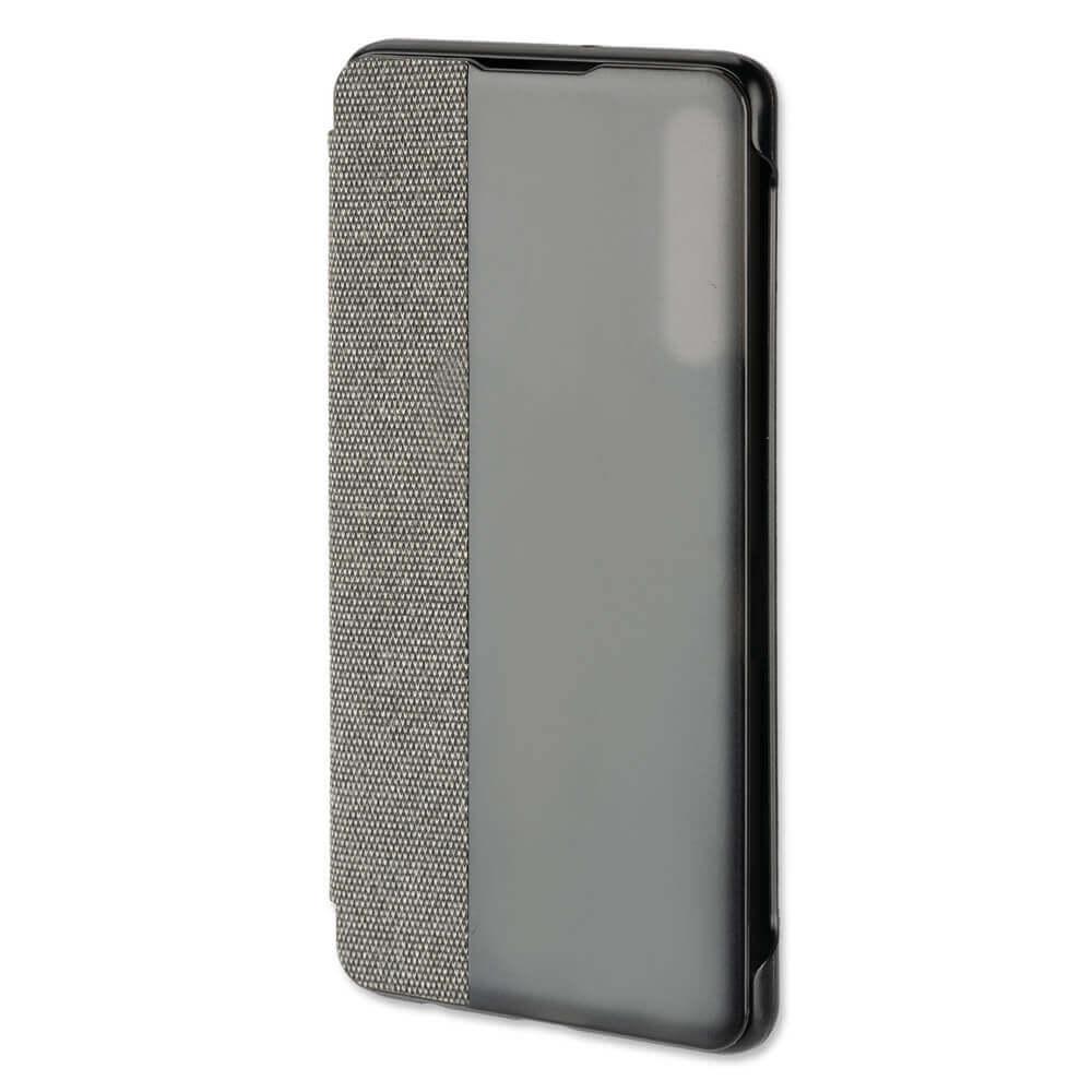 4smarts Smart Cover — текстилен смарт калъф за Huawei P30 (тъмносив) - 1