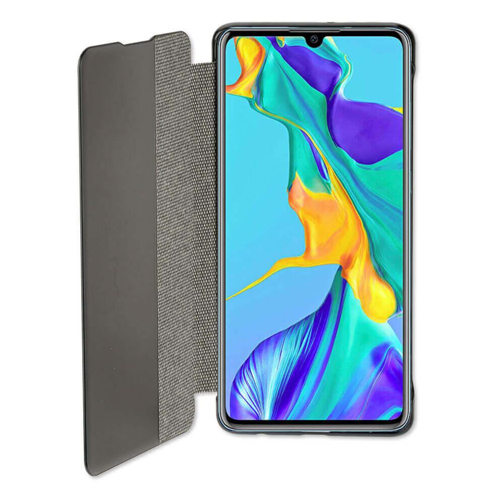 4smarts Smart Cover — текстилен смарт калъф за Huawei P30 (тъмносив) - 2