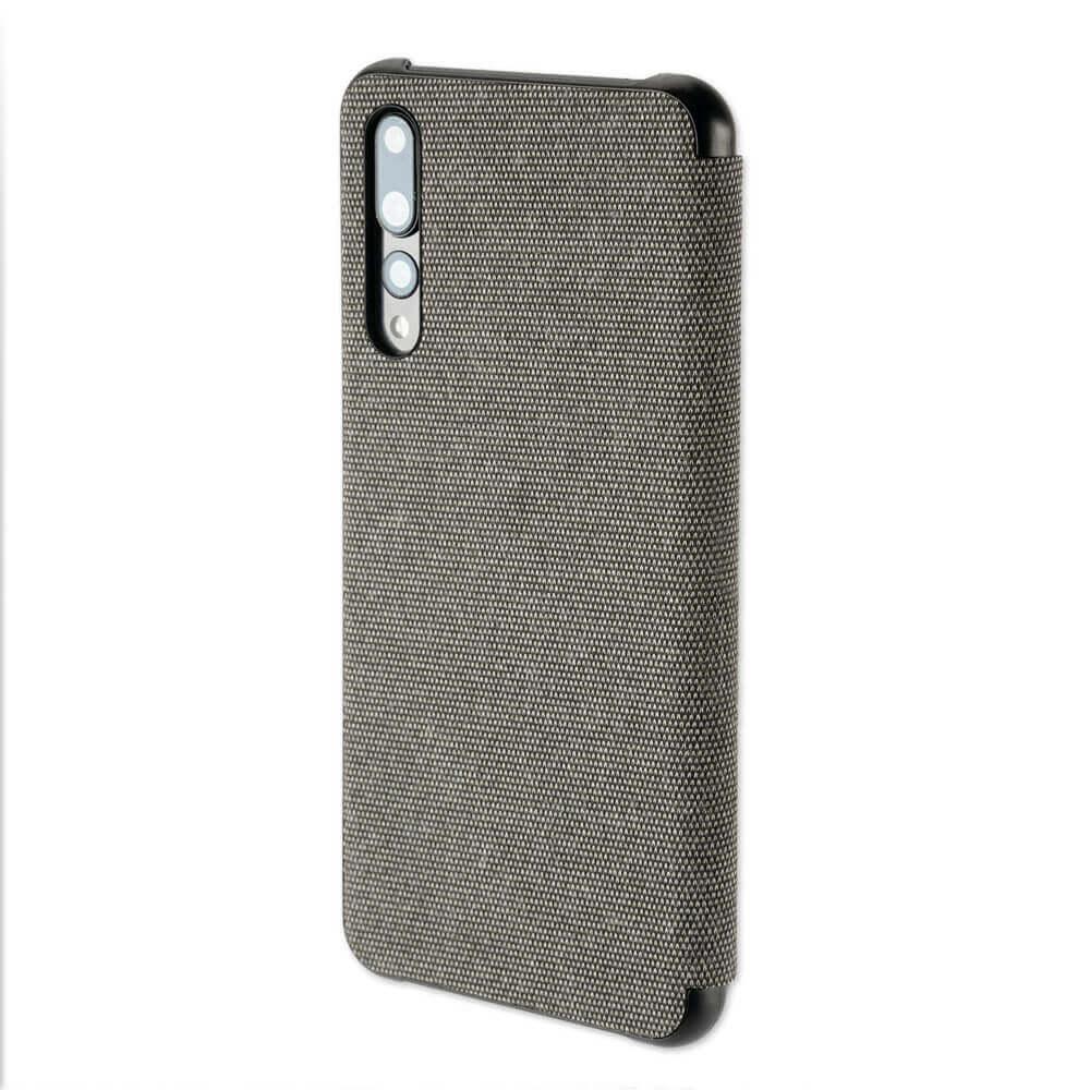 4smarts Smart Cover — текстилен смарт калъф за Huawei P30 (тъмносив) - 4