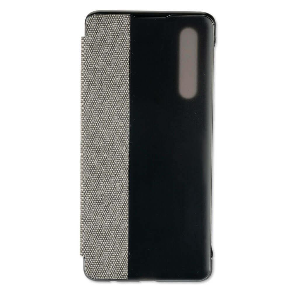 4smarts Smart Cover — текстилен смарт калъф за Huawei P30 (тъмносив) - 3