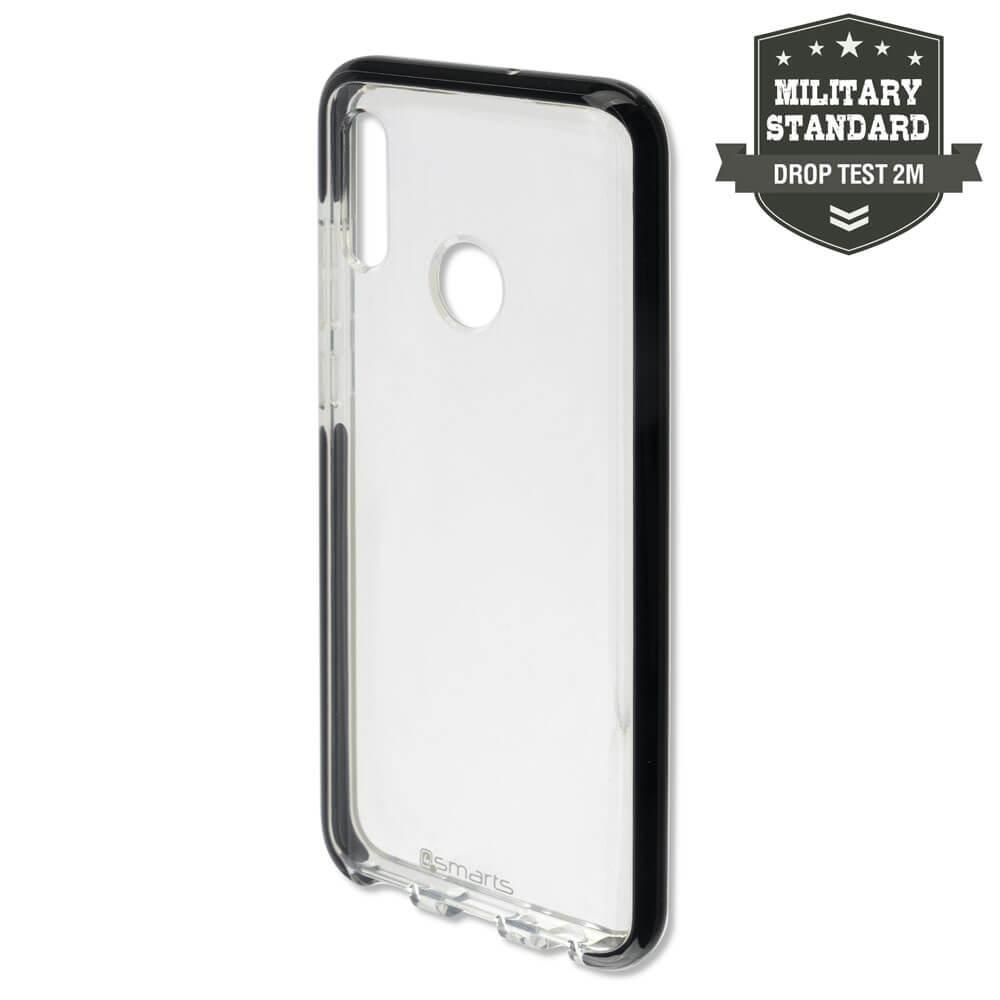 4smarts Soft Cover Airy Shield — хибриден удароустойчив кейс за Huawei P Smart (2019) (черен-прозрачен) - 1