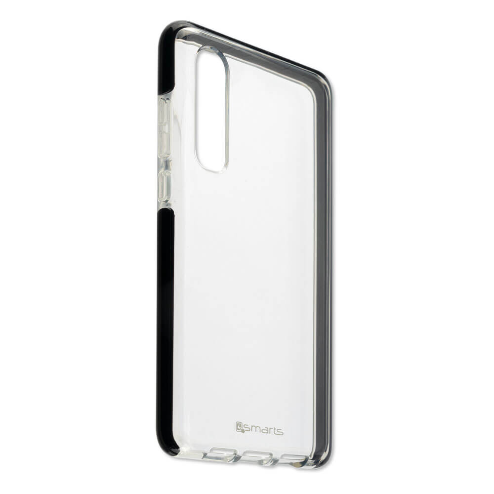 4smarts Soft Cover Airy Shield — хибриден удароустойчив кейс за Huawei P30 (черен-прозрачен) - 2