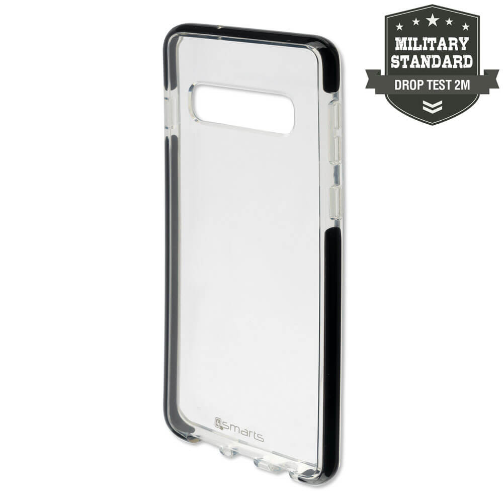 4smarts Soft Cover Airy Shield — хибриден удароустойчив кейс за Samsung Galaxy S10 Plus (черен-прозрачен) - 1