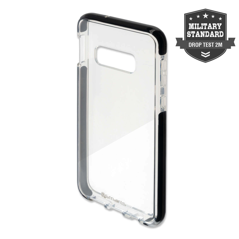 4smarts Soft Cover Airy Shield — хибриден удароустойчив кейс за Samsung Galaxy S10E (черен-прозрачен) - 1