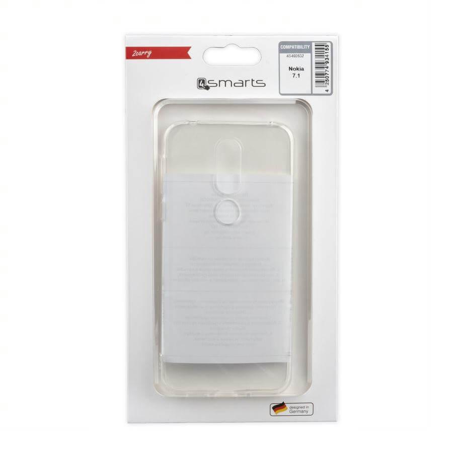 4smarts Soft Cover Invisible Slim — тънък силиконов кейс за Nokia 7.1 (прозрачен) - 2