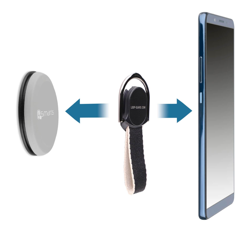 4smarts UltiMAG Allround Magnetic Holder — магнитна поставка за гладки повърхности за смартфони (сив) - 4
