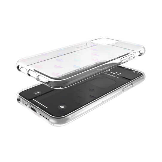 Adidas Originals Entry Snap Case — удароустойчив хибриден кейс за iPhone 11 Pro (прозрачен) - 4