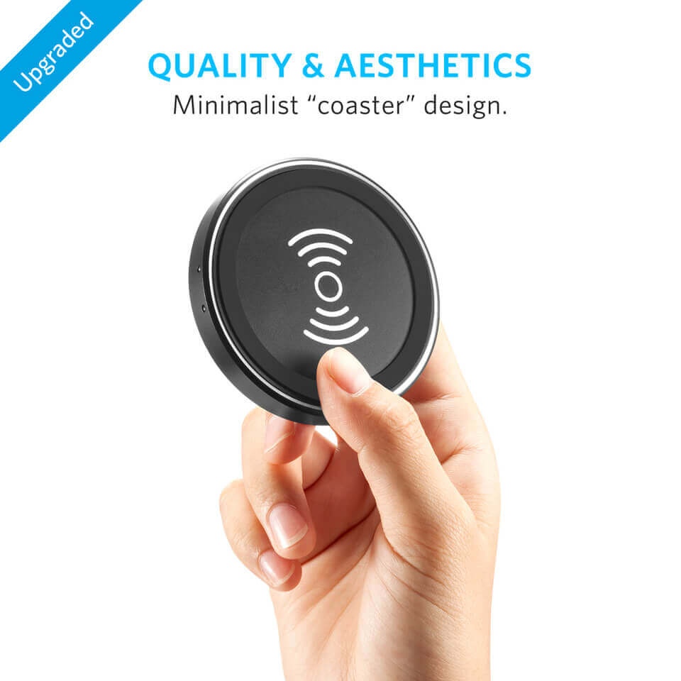 Anker PowerPort Wireless 12W Wireless Charging Pad — поставка (пад) за безжично захранване за QI съвместими устройства (черен) - 5