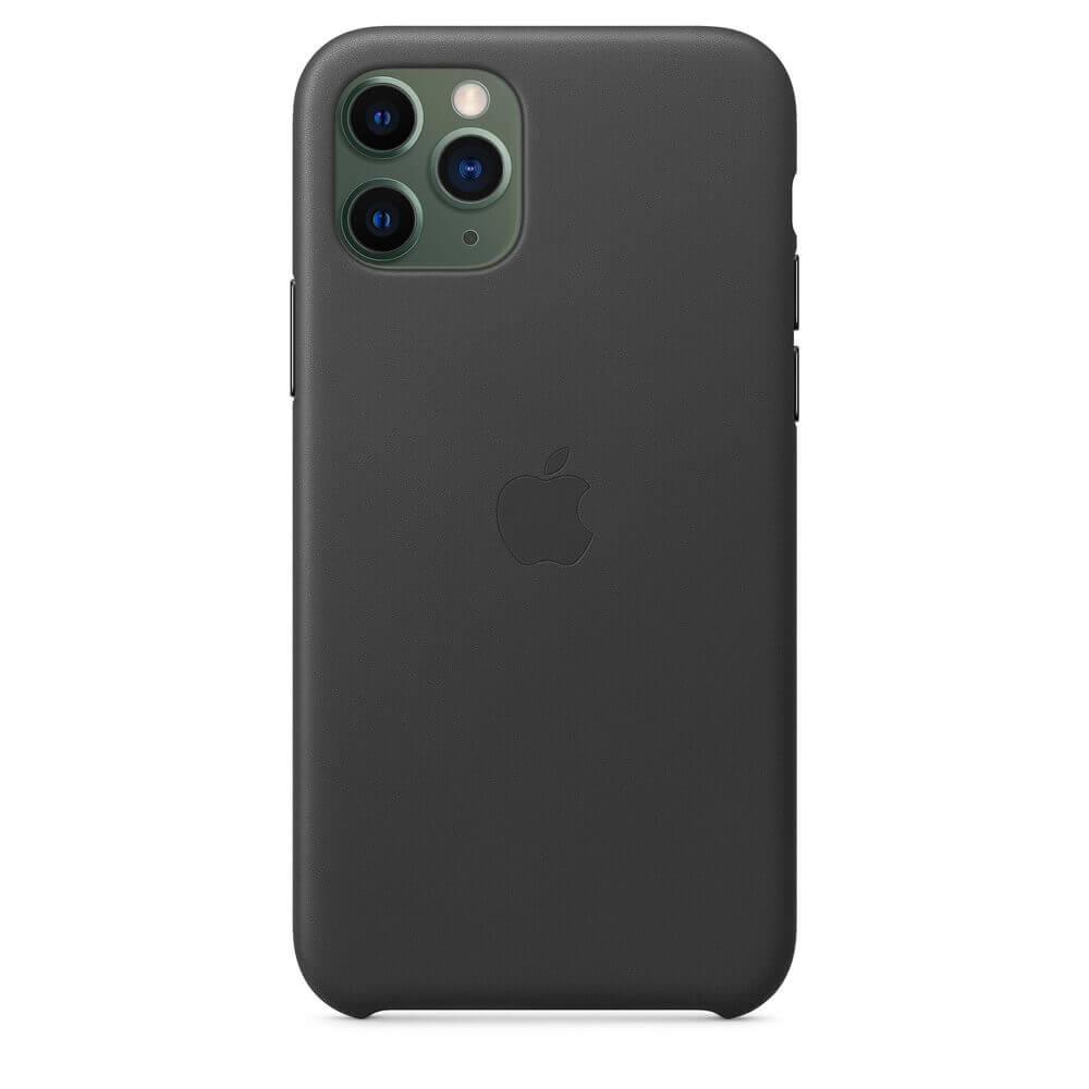Apple iPhone Leather Case — оригинален кожен кейс (естествена кожа) за iPhone 11 Pro (черен) - 4