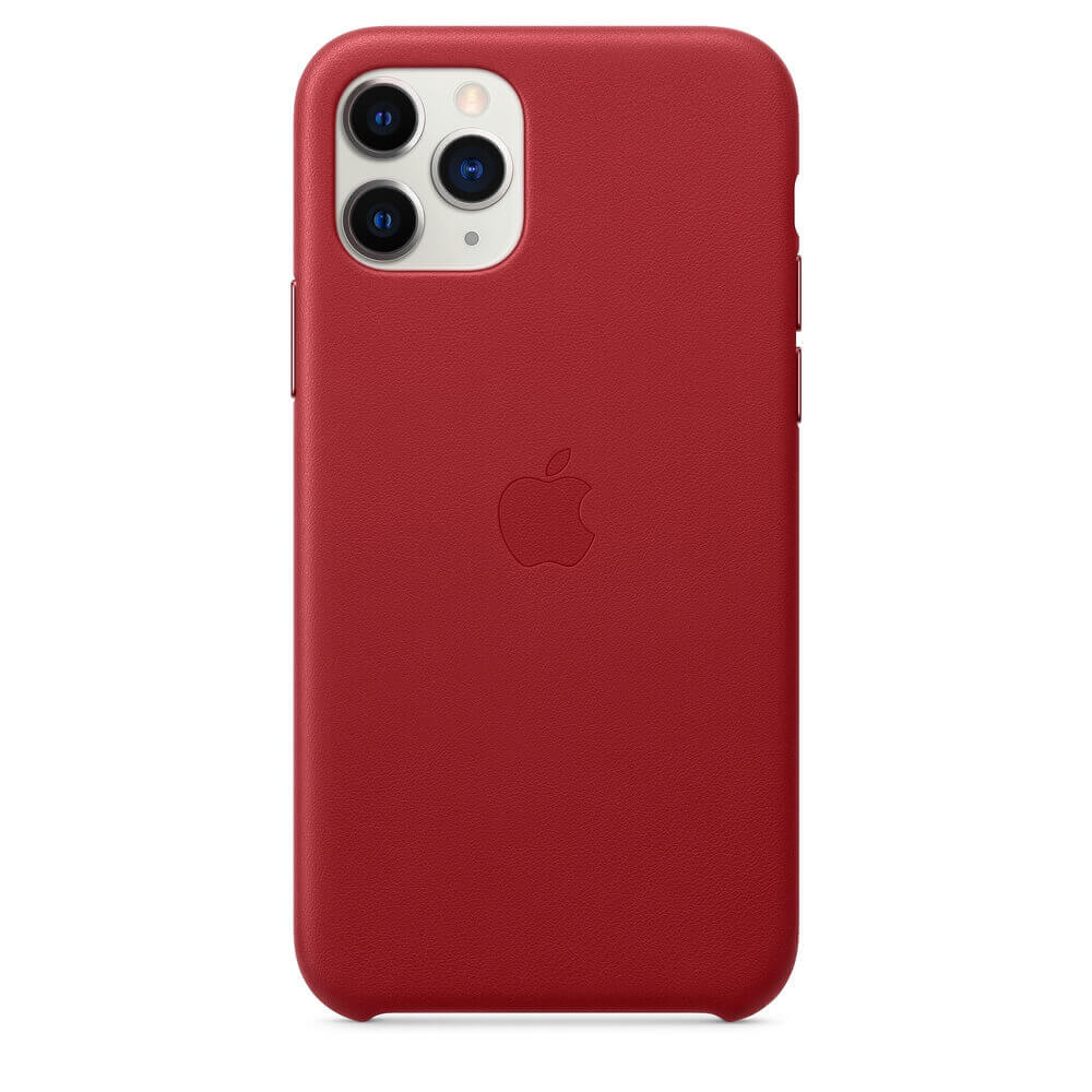 Apple iPhone Leather Case — оригинален кожен кейс (естествена кожа) за iPhone 11 Pro (червен) - 2