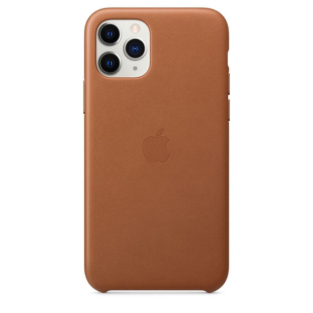 Apple iPhone Leather Case — оригинален кожен кейс (естествена кожа) за iPhone 11 Pro (кафяв) - 2