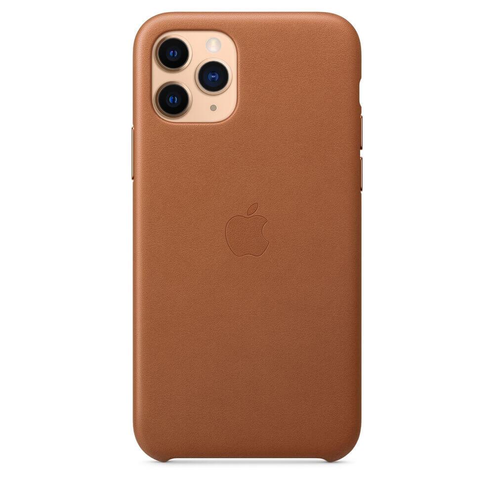 Apple iPhone Leather Case — оригинален кожен кейс (естествена кожа) за iPhone 11 Pro (кафяв) - 5
