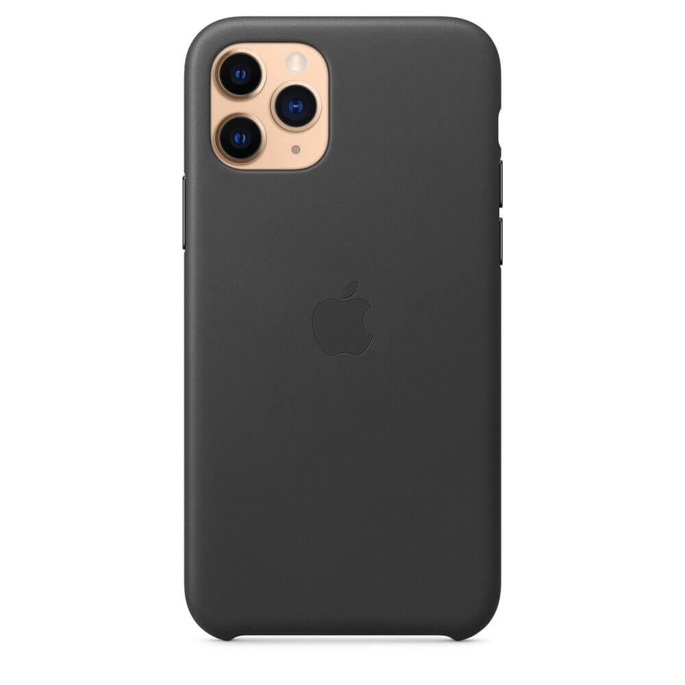 Apple iPhone Leather Case — оригинален кожен кейс (естествена кожа) за iPhone 11 Pro Max (черен) - 3