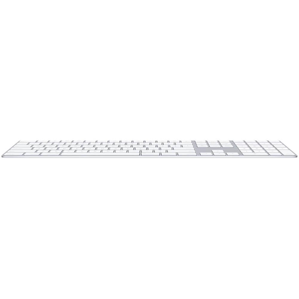 Apple Magic Wireless Keyboard INT with Numeric Keypad — безжична клавиатура за iPad и MacBook (сребрист-бял)  - 5