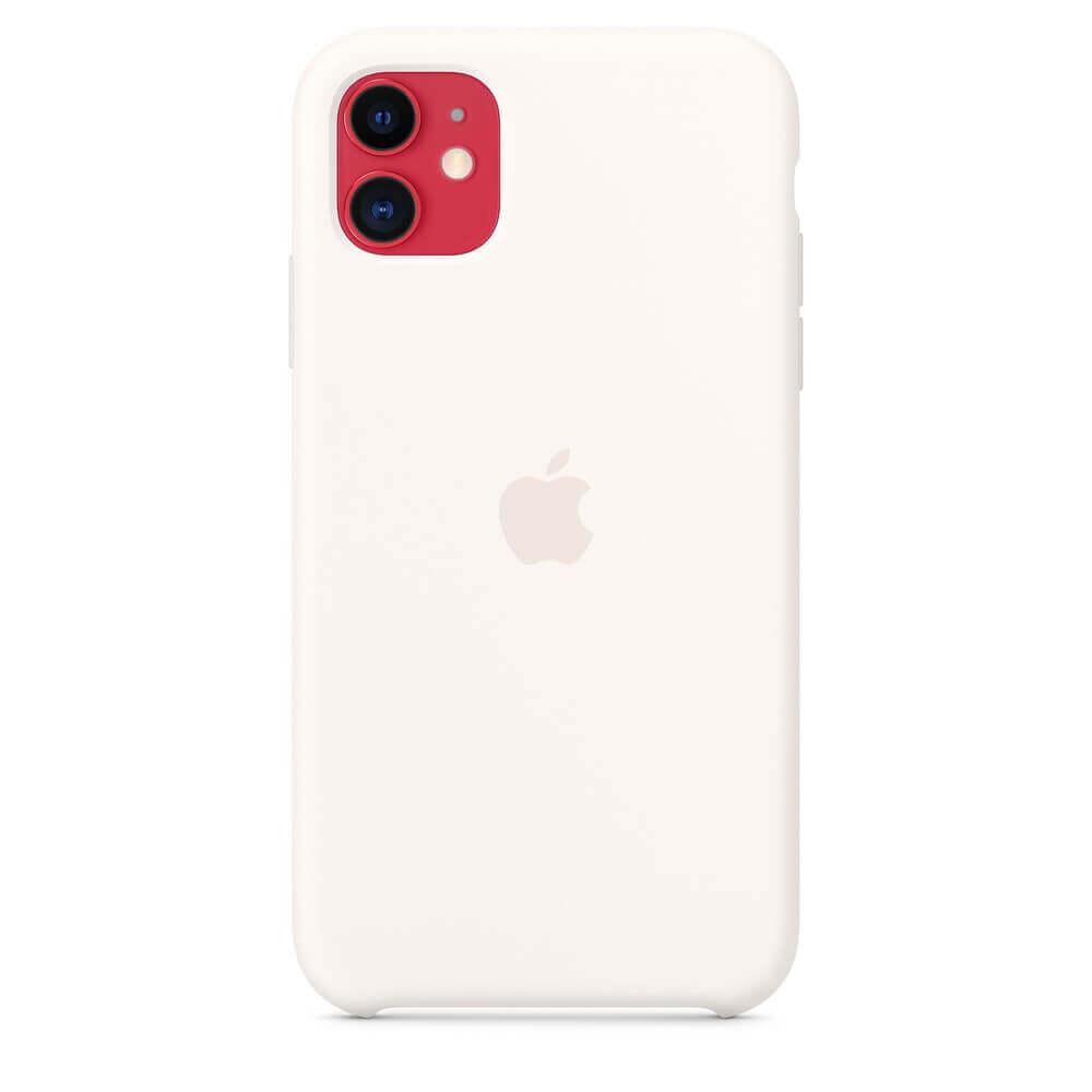 Apple Silicone Case — оригинален силиконов кейс за iPhone 11 (бял) - 3